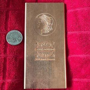 One pound. 999 Fine Copper bar